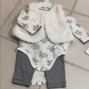 NWT Little Me 3 piece set